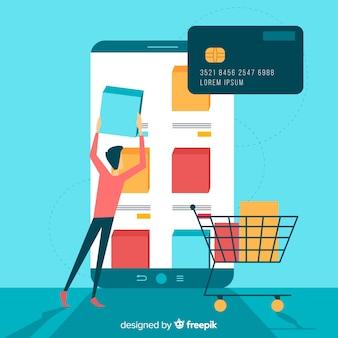 Concepto para landing page de compras online