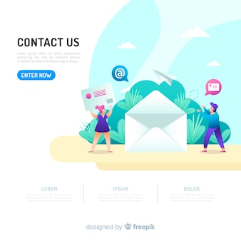Concepto para landing page de contacto