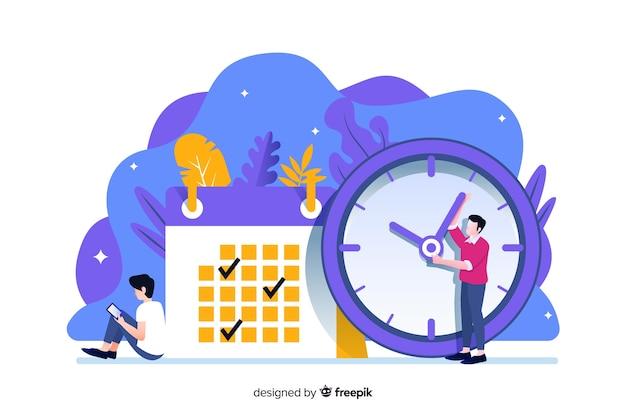 Concepto para landing page de control del tiempo