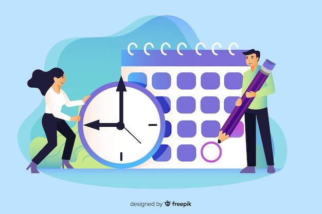 Concepto de landing page de manejo del tiempo