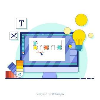 Concepto de landing page de marca