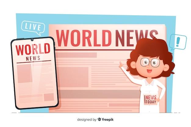 Concepto para landing page de noticias