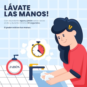 Concepto de lavarse las manos