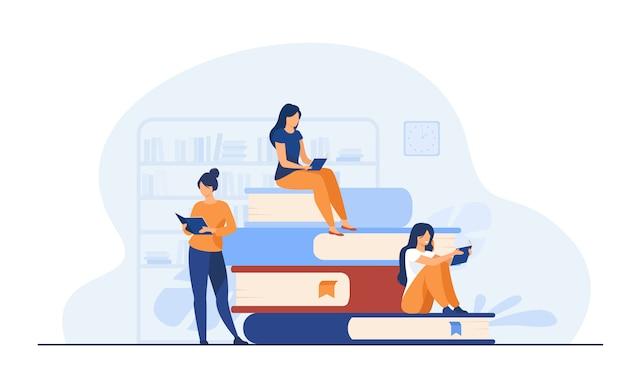 Concepto de lectores de libros