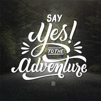 Concepto de letras de aventura