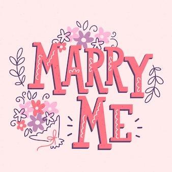 Concepto de letras de boda