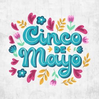 Concepto de letras de cinco de mayo