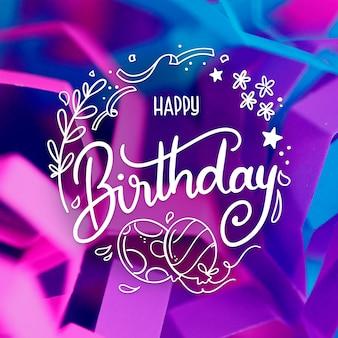 Concepto de letras de cumpleaños