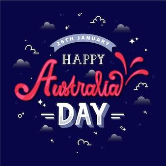 Concepto de letras del día de australia