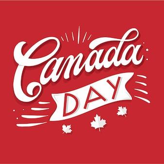 Concepto de letras del día de canadá