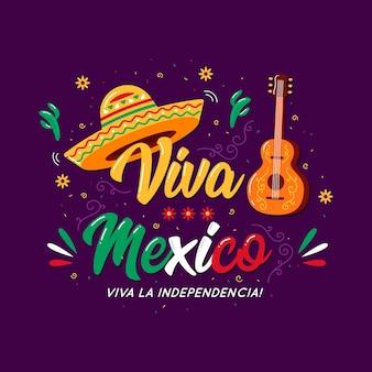 Concepto de letras del día de la independencia de méxico