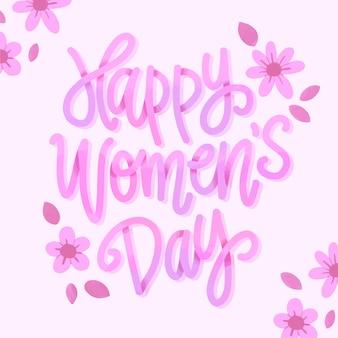 Concepto de letras día de la mujer
