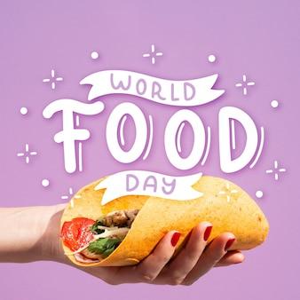 Concepto de letras del día mundial de la alimentación