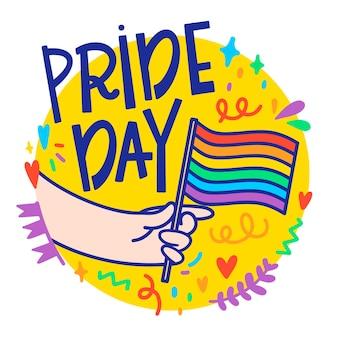 Concepto de letras del día del orgullo