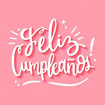 Concepto de letras feliz cumpleaños