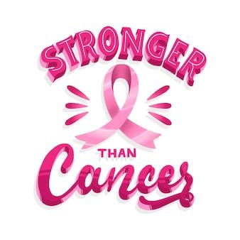Concepto de letras del mes de concientización sobre el cáncer de mama