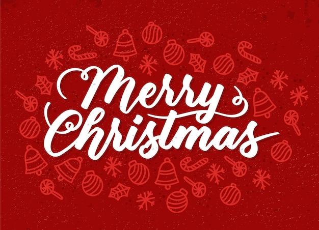 Concepto de letras de navidad