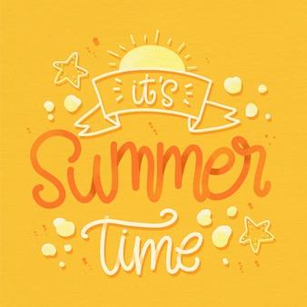 Concepto de letras de verano