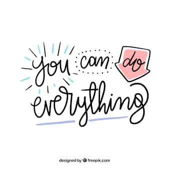Concepto de lettering con citas motivadoras