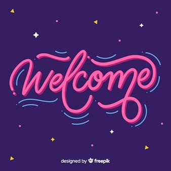 Concepto de lettering de welcome