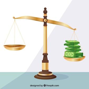 Concepto de ley y justicia con diseño plano