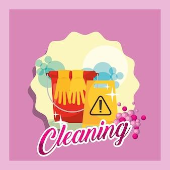 Concepto de limpieza de primavera