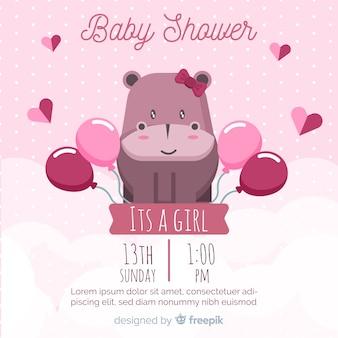 Concepto lindo de baby shower