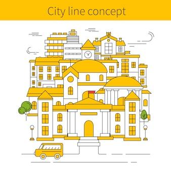 Concepto de línea de construcción