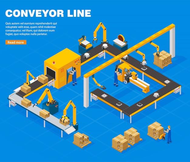 Concepto de línea transportadora