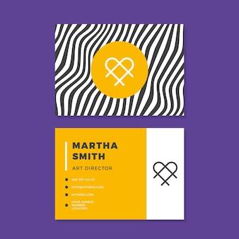 Concepto de líneas distorsionadas para el diseño de tarjetas de visita