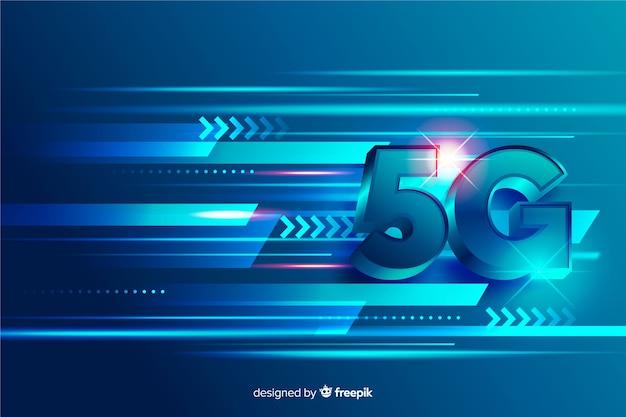 Concepto de líneas de red de tecnología 5g