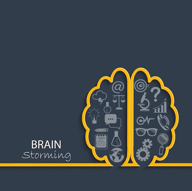 Concepto de lluvia de ideas