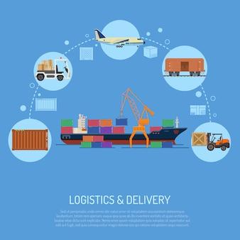Concepto de logística y entrega