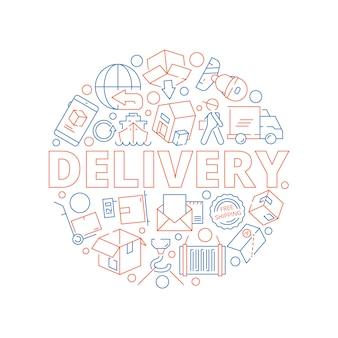 Concepto logístico entrega global del servicio de carga de envío