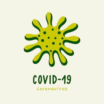 Concepto de logo de coronavirus