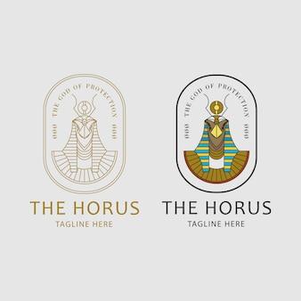 Concepto de logo de horus
