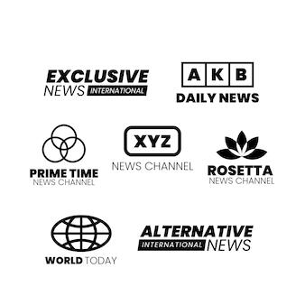 Concepto de logo de noticias