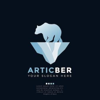 Concepto de logo de oso ártico
