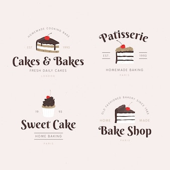 Concepto de logo de pastel de panadería