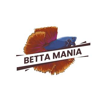 Concepto de logo de pez betta