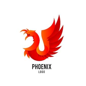 Concepto de logo de phoenix