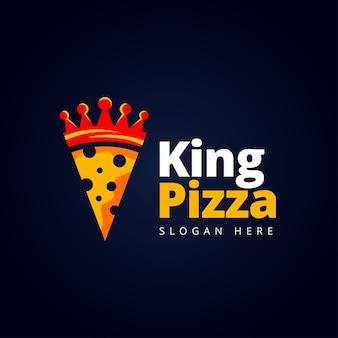 Concepto de logo de pizza