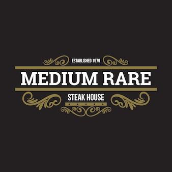 Concepto de logo de restaurante retro
