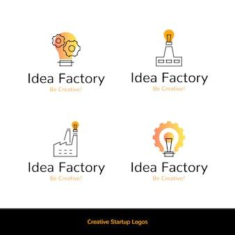 Concepto de logos de fábrica de ideas