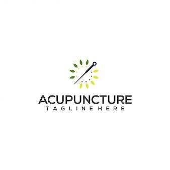 Concepto de logotipo de acupuntura