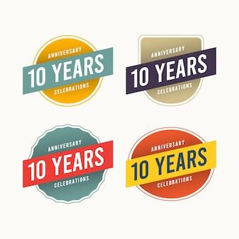 Concepto de logotipo de aniversario.