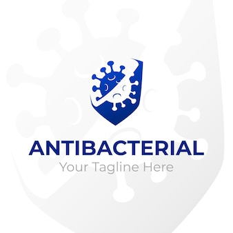 Concepto de logotipo antibacteriano