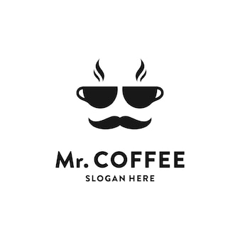 Concepto de logotipo de cafetería creativa