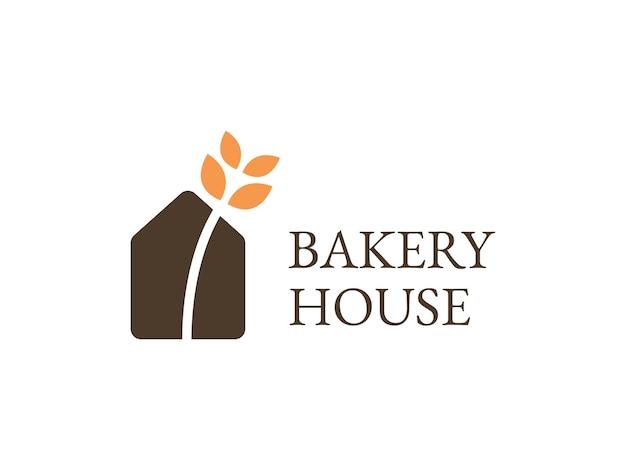Concepto de logotipo de casa de panadería