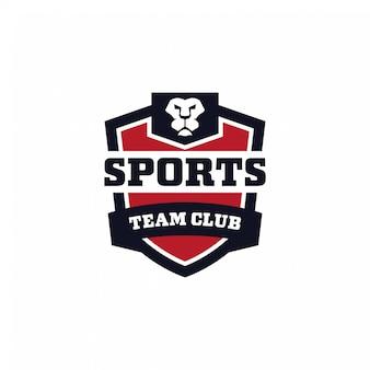 Concepto de logotipo del club de equipo deportivo